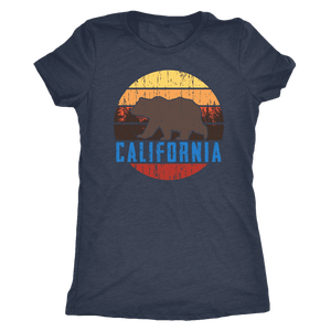 Big Bear California Shirt V.1, Womens Shirts T-shirt Next Level Womens Triblend Vintage Navy S