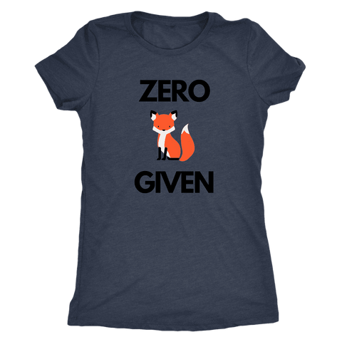 Image of Zero Fox Given T-shirt Next Level Womens Triblend Vintage Navy S