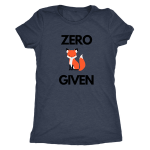 Zero Fox Given T-shirt Next Level Womens Triblend Vintage Navy S