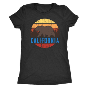 Big Bear California Shirt V.1, Womens Shirts T-shirt Next Level Womens Triblend Vintage Black S