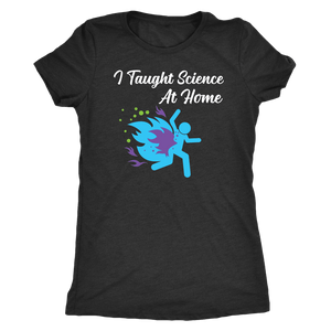 I Taught Science at Home Funny Womens T-Shirt T-shirt Next Level Womens Triblend Vintage Black S