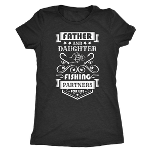 Father and Daughter Fishing Partners T-shirt Next Level Womens Triblend Vintage Black S