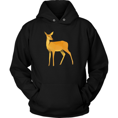 Image of Polygonal Doe T-shirt Unisex Hoodie Black S