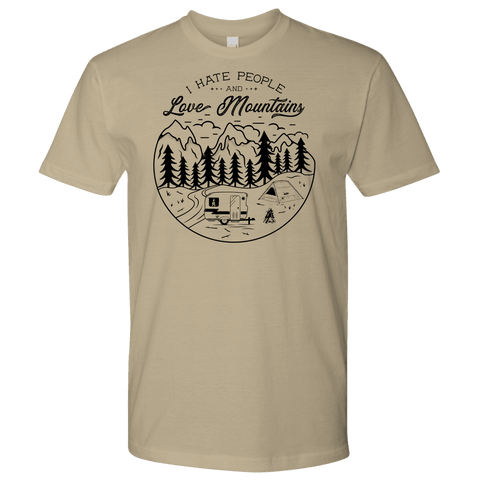 Image of Love The Mountains Mens T-shirt Next Level Mens Shirt Sand S