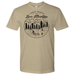 Love The Mountains Mens T-shirt Next Level Mens Shirt Sand S