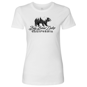 Big Bear Lake California V.2, Womens, Black T-shirt Next Level Womens Shirt White S