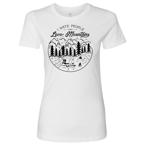 Love The Mountains Womens T-shirt Next Level Womens Shirt White S
