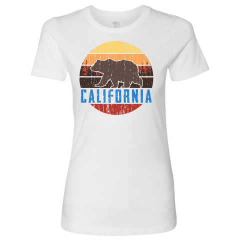Image of Big Bear California Shirt V.1, Womens Shirts T-shirt Next Level Womens Shirt White S