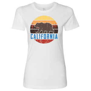 Big Bear California Shirt V.1, Womens Shirts T-shirt Next Level Womens Shirt White S