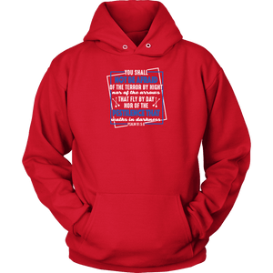 You shall not be afraid Psalm 91 5-6 White Longsleeve and Hoodies T-shirt Unisex Hoodie Red S
