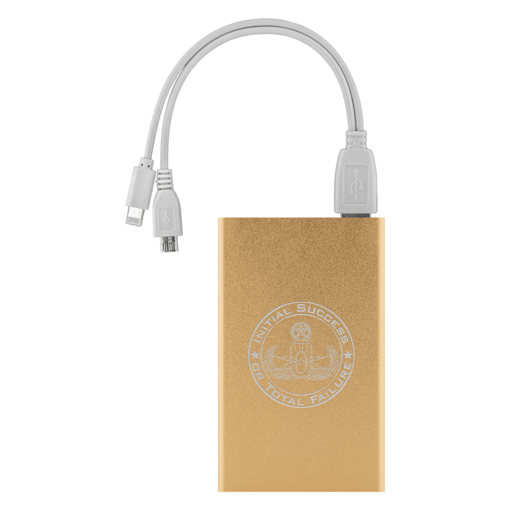 Initial Success or Total Failure EOD Power Bank Power Banks Gold