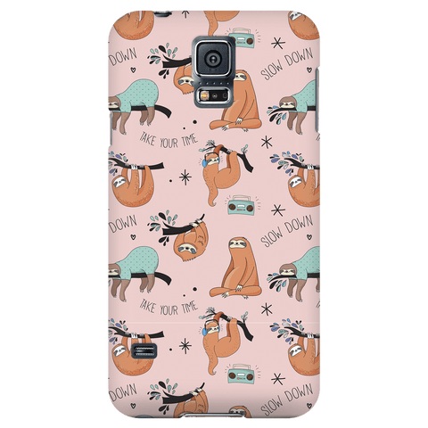 Image of Pink Sloth Collage Phone Case Phone Cases Galaxy S5