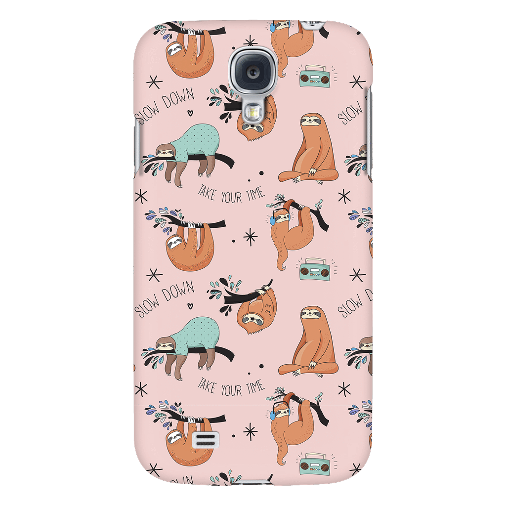 Pink Sloth Collage Phone Case