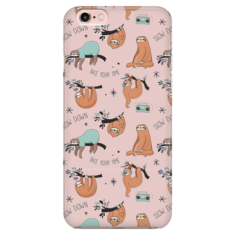 Image of Pink Sloth Collage Phone Case Phone Cases iPhone 7/7s/8