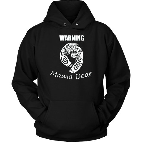 Image of WARNING Mama Bear Celtic Hoodie T-shirt Unisex Hoodie Black S
