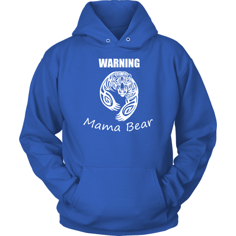 Image of WARNING Mama Bear Celtic Hoodie T-shirt Unisex Hoodie Royal Blue S
