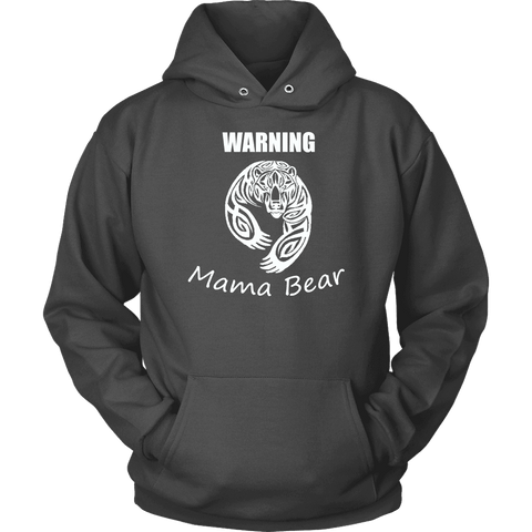 Image of WARNING Mama Bear Celtic Hoodie T-shirt Unisex Hoodie Charcoal S