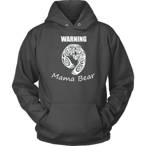 WARNING Mama Bear Celtic Hoodie T-shirt Unisex Hoodie Charcoal S