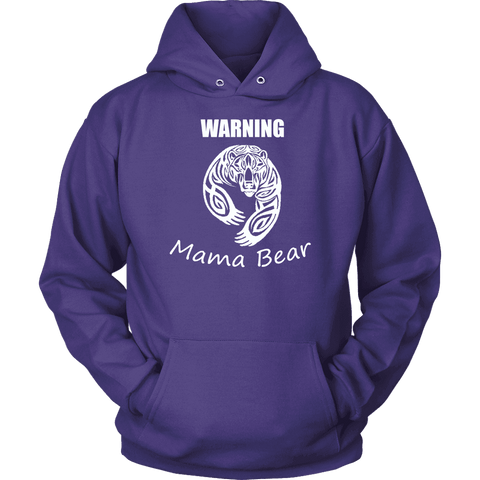 Image of WARNING Mama Bear Celtic Hoodie T-shirt Unisex Hoodie Purple S