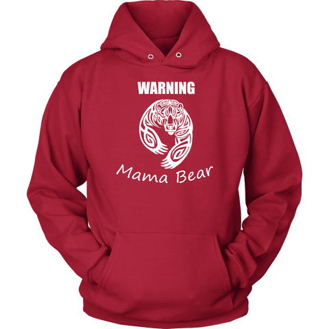 Image of WARNING Mama Bear Celtic Hoodie T-shirt Unisex Hoodie Red S