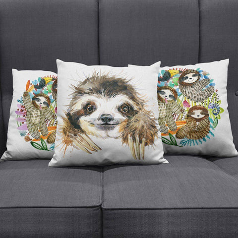 Cute Sloth Pillow Cover