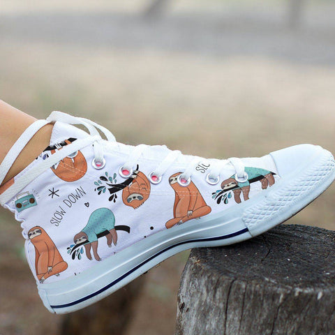 Image of Great Sloths on Awesome High Top Shoes, Womens Shoes