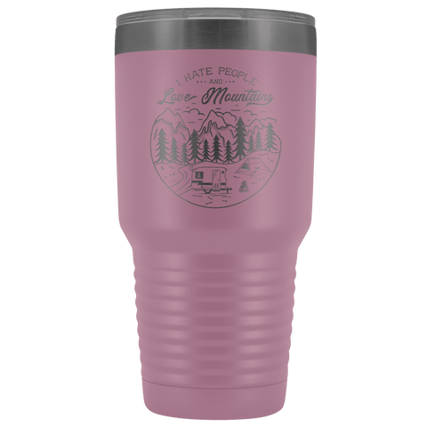 Image of Love the Mountains | 30oz Tumbler Tumblers Light Purple