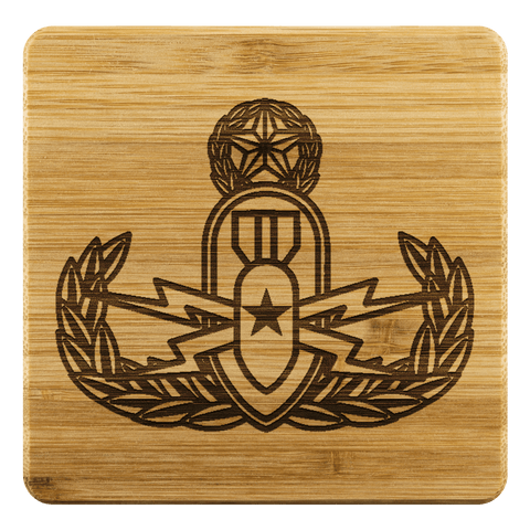 Image of EOD Master Crab on Premium Bamboo Coasters Coasters Bamboo Coaster - 4pc