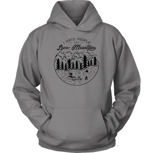 Love The Mountains Mens T-shirt Unisex Hoodie Grey S