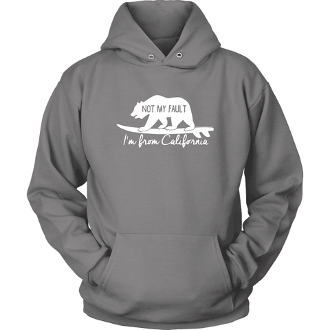 Image of From California T-shirt Unisex Hoodie Grey S
