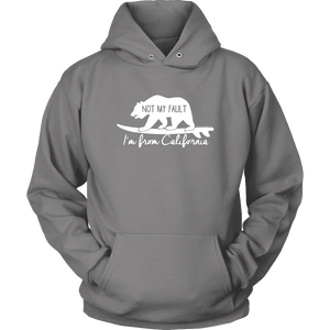 From California T-shirt Unisex Hoodie Grey S
