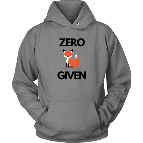 Zero Fox Given T-shirt Unisex Hoodie Grey S