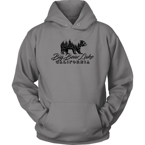 Image of Big Bear Lake California V.2, Hoodies and Long Sleeve T-shirt Unisex Hoodie Grey S