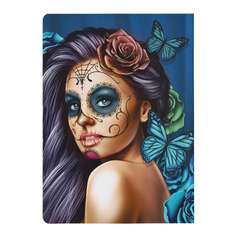 Image of Blue Calavera Girl Soft Cover Journal
