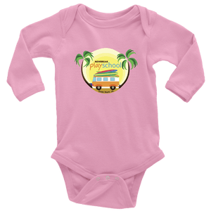 Newbreak Playschool Onesie T-shirt Long Sleeve Baby Bodysuit Pink NB