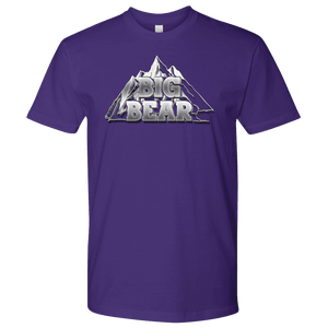 Big Bear V.2, Mens T-shirt Next Level Mens Shirt Purple S