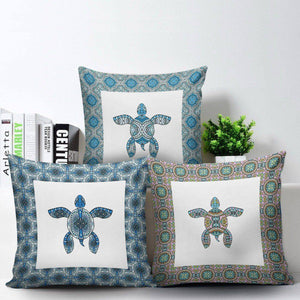 Cool Tribal Sea Turtle Pillow Covers
