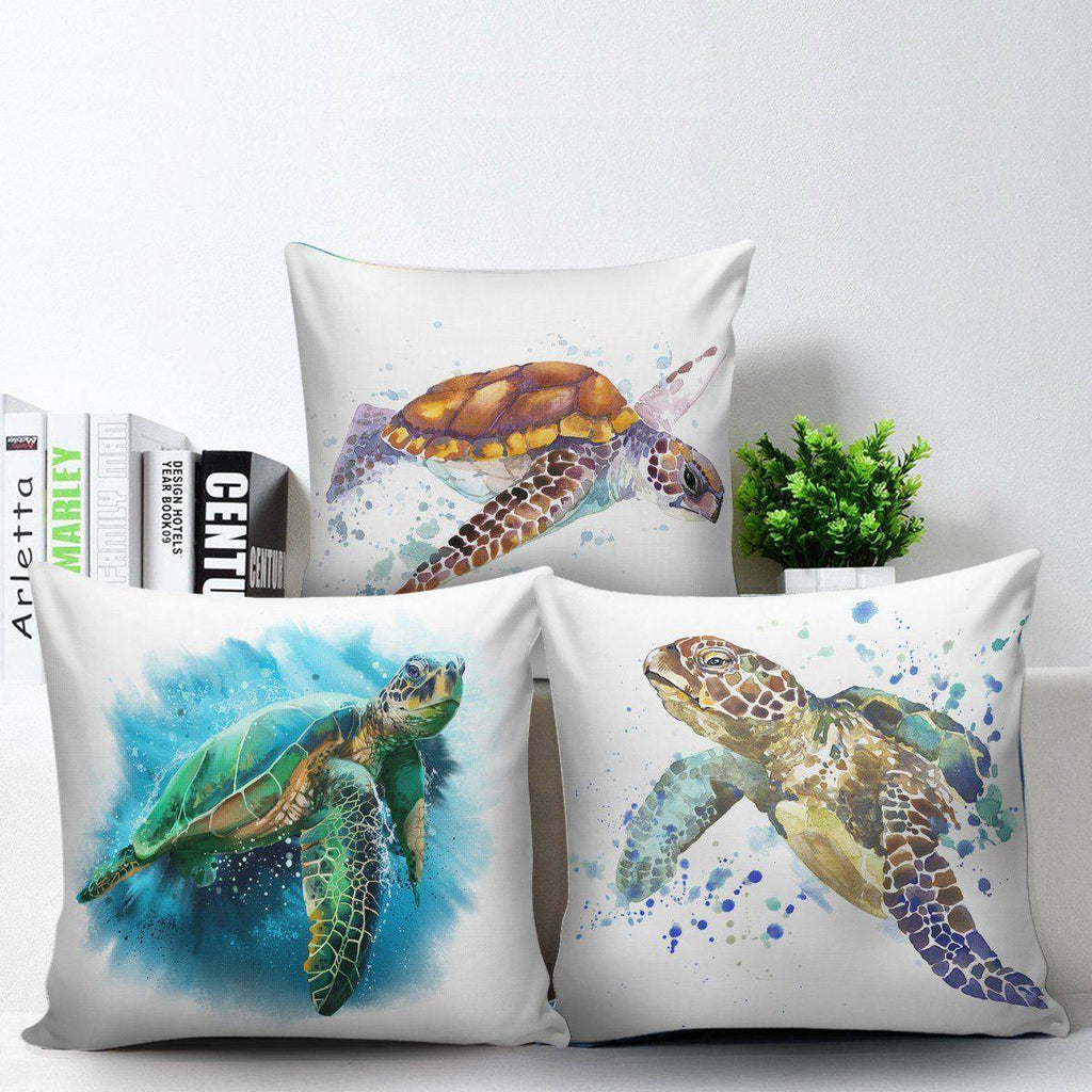 Awesome Turtle Art Pillow Covers Pillow Case