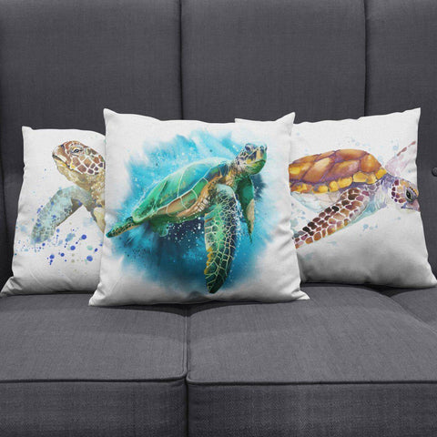 Image of Awesome Turtle Art Pillow Covers Pillow Case