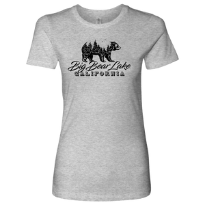 Big Bear Lake California V.2, Womens, Black T-shirt Next Level Womens Shirt Heather Grey S