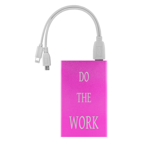 Image of Do The Work Power Bank Power Banks Pink