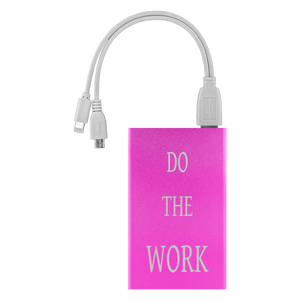 Do The Work Power Bank Power Banks Pink