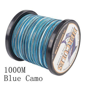 Camo 8 Stranded Braided PE Fishing Line | Super Strong Fishing Lines 1000M Blue Camo .12 - 10 lbs