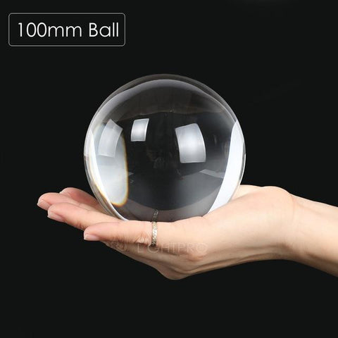 Image of Premium K9 Crystal Lens Ball. Take Your Viewers to a New World With Your Art Photo Studio Accessories 100mm ball