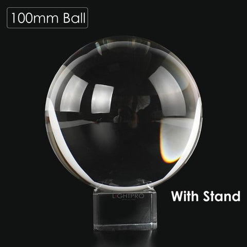 Image of Premium K9 Crystal Lens Ball. Take Your Viewers to a New World With Your Art Photo Studio Accessories 100mm ball w stand