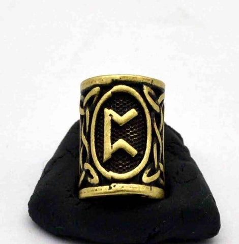 Image of Antique Bronze Norse Viking Rune Beads Beads 10