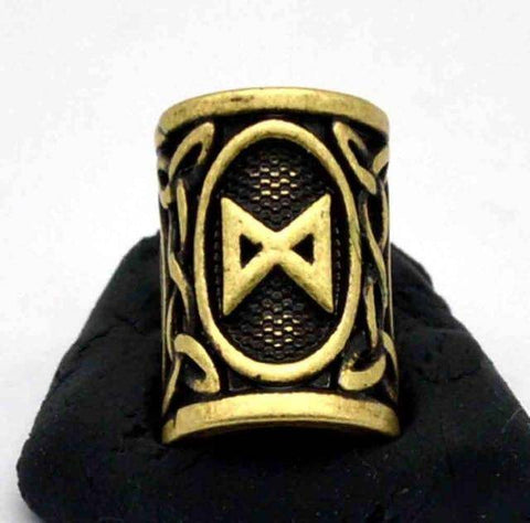 Image of Antique Bronze Norse Viking Rune Beads Beads 11