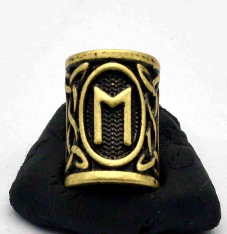 Image of Antique Bronze Norse Viking Rune Beads Beads 14