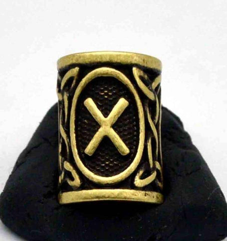 Image of Antique Bronze Norse Viking Rune Beads Beads 16