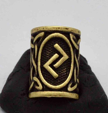 Image of Antique Bronze Norse Viking Rune Beads Beads 17